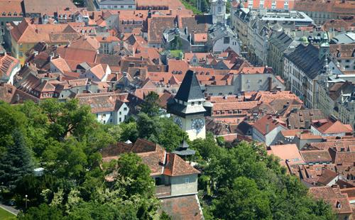 Schlossberg_Graz_Vogelperspektive
